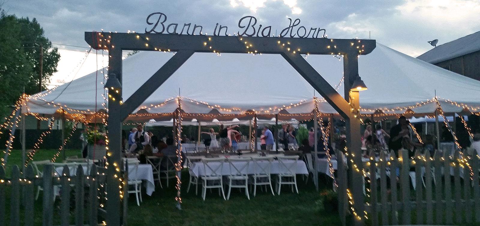 barn weddings in wyoming